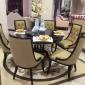 名帆新品 法式餐椅 仿古家具雕花餐椅