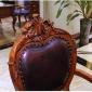 途居�W式餐桌 2.1米�桌 1.8米��木餐桌椅�M合 �L方形美式餐桌