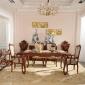 �W式餐桌椅套�b�M合仿古白�桌法式雕花�L方形餐�_�影宸�e墅家具