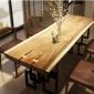 �W式�易��木家具家用客�d餐�d酒店大�桌 �F��L方形餐桌椅�M合